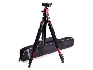 MagnesiumPRO 62-inch DSLR Camera Tripod w/ Detachable Monopod, Quick Release Plate and Rotating Ball Head - Works with Canon ...
