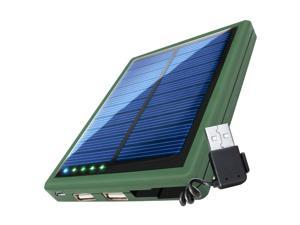 ReVIVE ReStore SL5000 Portable Solar Charger & 5000mAh Power Bank with Stowaway USB Cable & Dual USB Charging Ports