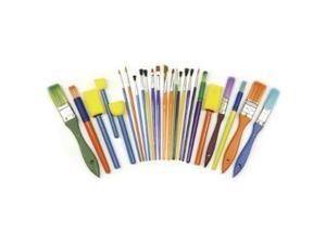 Creativity Street Starter Brush Set, Assorted Sizes/Colors, 25 Pieces/Set
