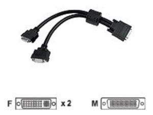 MATROX GRAPHICS CAB-L60-2XDF 1' LFH-60-To-Dual DVI-I Cable For G200/G450 Multi-Monitor