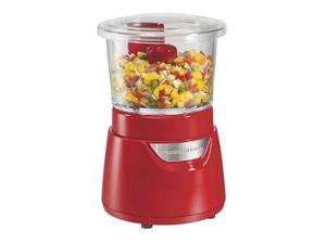 Hamilton Beach  72861  Red  3 Cup Food Chopper with Glass Bowl