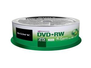 SONY 4.7GB 4X DVD-RW 25 Packs Disc