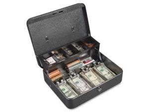 "Locking Cash Box 5 Cmprtmts 11-3/4""x10""x4"" Gray"
