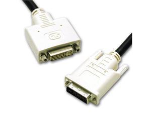 C2G Model 29321 Black 6.5ft Connector 1: (1) DVI-I Dual Link MaleConnector 2: (1) DVI-I Dual Link Female DVI-I M/F Dual ...