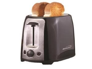 Brentwood  TS-292B  Black and Stainless Steel  2 Slice Cool Touch Toaster