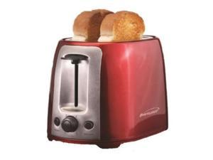 Brentwood  TS-292R  Red and Stainless Steel  2 Slice Cool Touch Toaster