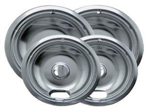 Range Kleen 10124XN Universal Chrome 4 Pack - Drip Pan Set