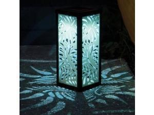 Smart Solar 3018WRM1 Frosted Palm Leaf Square Solar Lantern