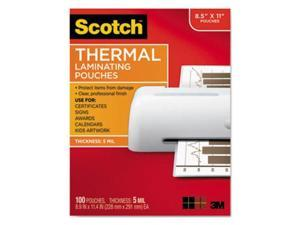 TP5854100 3M Letter Size Thermal Laminating Pouches, 5 mil, 11 1/2 x 9, 100/Pack