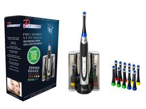 Pursonic S330 DELUXE PLUS Rechargeable Oscillating Electric Toothbrush W/ BONUS 12 Brush heads