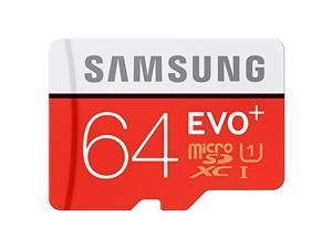 SAMSUNG EVO Plus 64GB microSDHC Memory Card w/ Adapter Model MB-MC64DA/AM