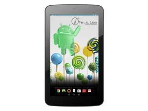 "Visual Land 7.0"" ME7QSWC16GBBLK Quad Core 1.30 GHz 1 GB Memory 16 GB Flash Storage Android 5.0 (Lollipop) Tablet"