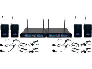 VocoPro UDH-PLAY 4 Four CH UHF/DSP Hybrid Bodypack Wireless Microphone Package