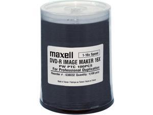 MAXELL 638032 DVD-R 16X WIJP DUPL GRADE 100PK SPN