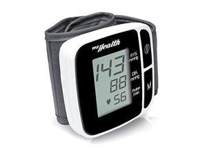 PYLE  PHBPBW40BK  Bluetooth SMART Wrist Blood Pressure Monitor with Free Downloadable Health Tracking App and Adjustable Strap, Safe for All Ages (Black Color)