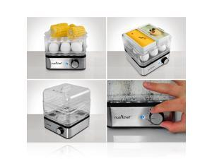 NutriChef PKEC12 Electronic Food Steamer, Egg Cooker / Boiler