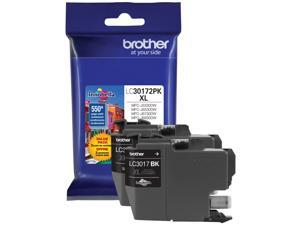 Brother LC30172PK High Yield Ink Cartridge - Dual Pack - Black