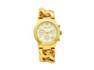 Michael Kors Women's Chronograph Gold Tone Stainless Steel Chain-Link