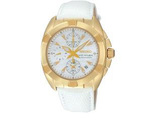 Seiko Velatura Chronograph Leather Ladies Watch SNDY22