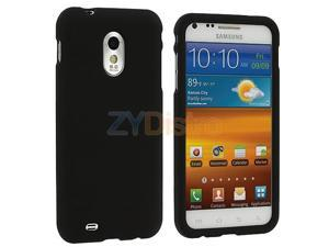 Black Snap-On Hard Skin Case Cover for Samsung Sprint Galaxy S II Epic Touch 4G D710
