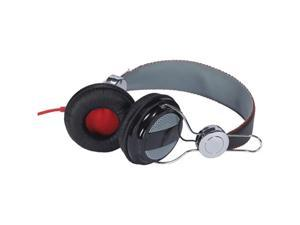 RCA HP5042 ADJUSTABLE OVERHEAD HEADPHONES (WHITE/SILVER/BLACK)