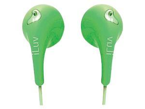 ILUV IEP205GRN BUBBLE GUM II EARPHONES (GREEN)