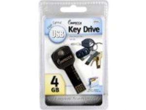 Impecca 4GB USB Key Drive - Black Metallic