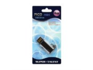 Super Talent Pico Mini-C 4GB USB2.0 Flash Drive (Black)