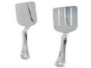 NEW, Set of Two (2) 14-Inch Long, Grill Spatula, Turner Spatula, Barbecue BBQ Spatula, Solid Stainless Steel, Flexible Blade, ...