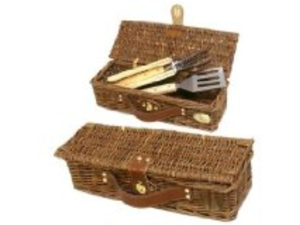 Willow BBQ basket with 3pcs BBQ tools. - 446415