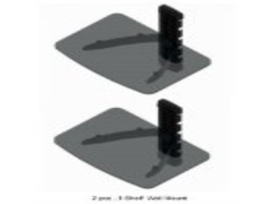 2 PCS Wall Mount Shelf for Direct Tv Box, DVD Player, DVR, Cable Box, Blu-ray Player, X-Box