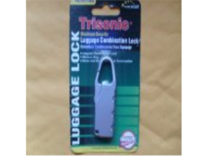 TRISONIC 3 Digit Brass and Steel Combination Luggage Lock Travel Padlock 2 PCS.