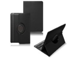 Ionic Rotating Stand Leather Case for New Barnes & Noble Nook HD+ 9-inch Wifi (Black)[Does not fit Nook Tablet]