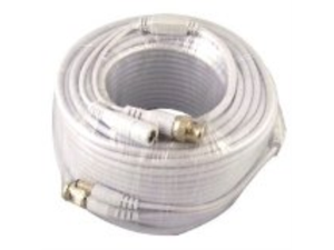 VONNIC Cable CB100W 100ft CCTV Siamese Cable w/Power Connectors White