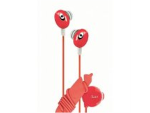 iLuv iEP311RED The Bean In-Ear Stereo Earphone with Volume Control - Red