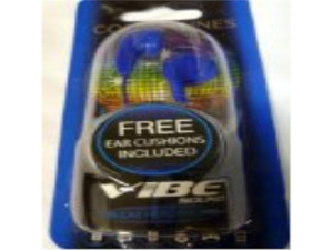 Vibe Sound In-ear Headphones blue Color Tunes Stereo Quality