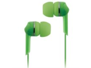 Coby CVE56GRN jammerz Moods Colorful Isolation Stereo Earphones, Green
