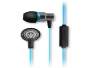 iFrogz EP-TP-MIC-BLU Transport EarBuds with Mic - Retail Packaging - Blue
