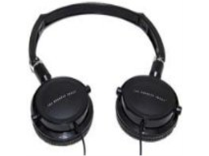 The Sharper Image Pro Black Headphones Foldable