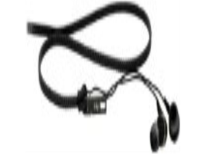 iHip IP-ZIP-BK Tangle Free Zippered Ear Buds - Black