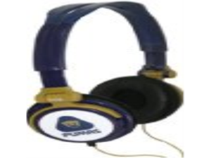 iHip MXF02PU Mexican Futbol Logo printed Headphones - Pumas Blue/Yellow