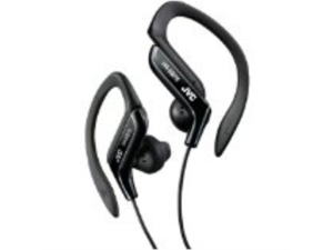 AWM Jvc Haeb75B Sport Style Ear-Clip Headphones (Black) - Earbuds