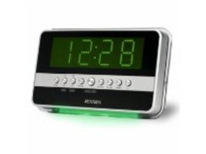 AM / FM Dual Alarm Clock Radio with Wave Sensor