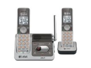 AT&T CL82201 Cordless Phone-DECT-Silver, Black-1 x Phone Line-2 x Handset-Answering Machine-Caller ID-Speakerphone-Backlight ...
