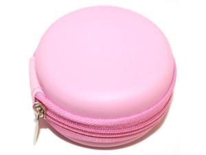 Pink Leather Case Pocket Size Holder Case for Plantronics Backbeat Go , Marque 2 M165 , Marque M155 , M55 M50 M28 M25 M24 ...