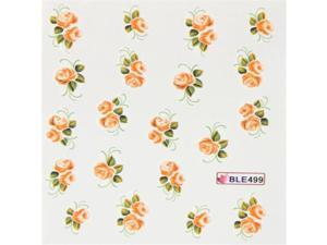 GGSELL Deco Nail art water transfer decals hydroplaning nail stickers yellow roses