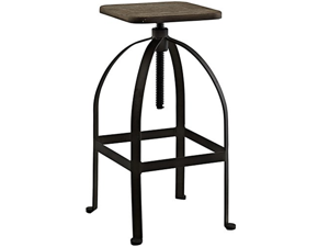 LexMod Pointe Bar Stool, Brown