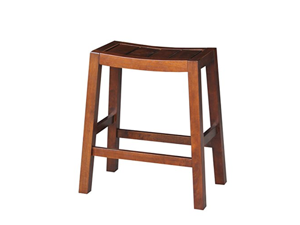 International Concepts Ranch Stool, 24-Inch, Espresso