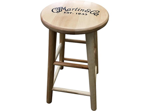 Martin Wooden Ash Logo Bar Stool 24 in.