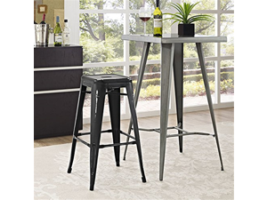 LexMod Promenade Bar Stool, Black